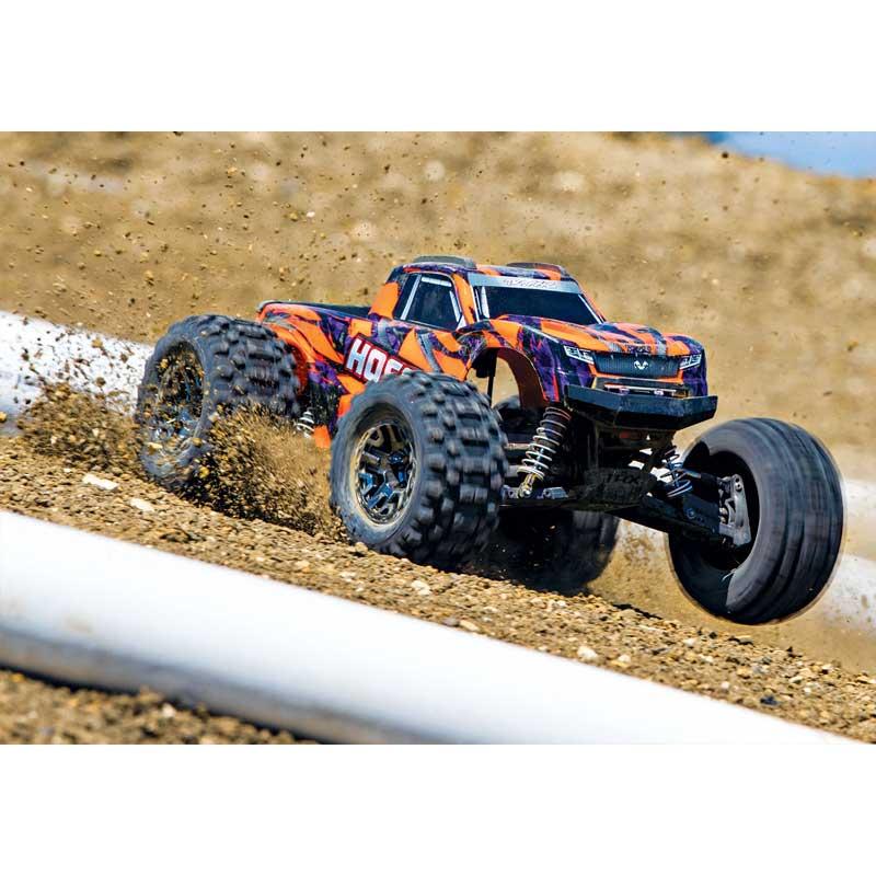 Traxxas Hoss 4x4 VXL Brushless Monster Truck High Speed in Dirt (90076-4)