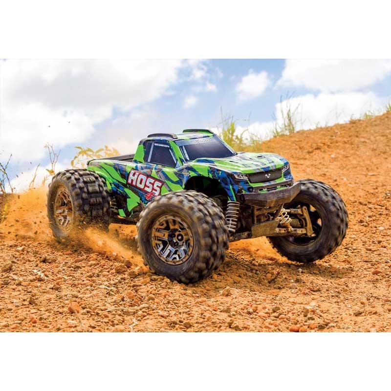 Traxxas Hoss 4x4 VXL Brushless Monster Truck High Speed Turning (90076-4)