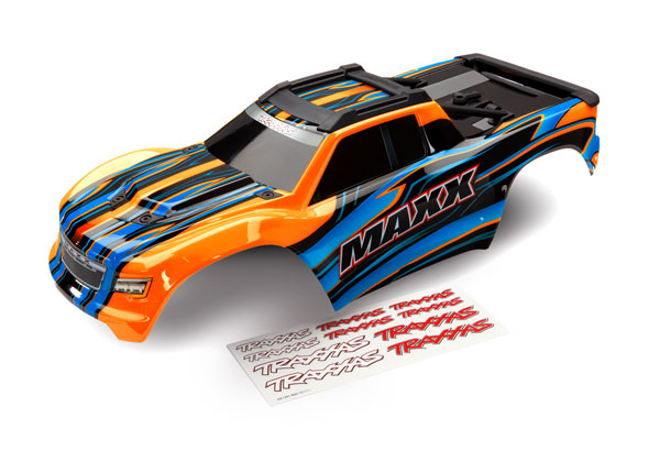 Traxxas Maxx Orange Painted Complete Body w/Decals (8911T)