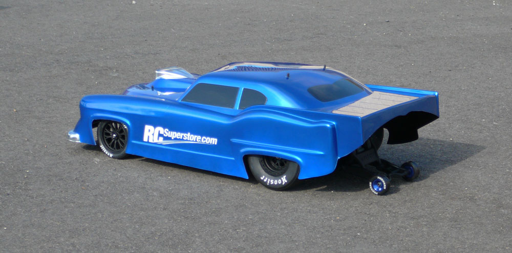Traxxas Slash VXL Pro-Mod Blue Drag Car Left Rear