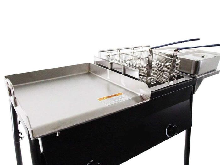 3-IN-1 Griddle Deep Fryer Steamers