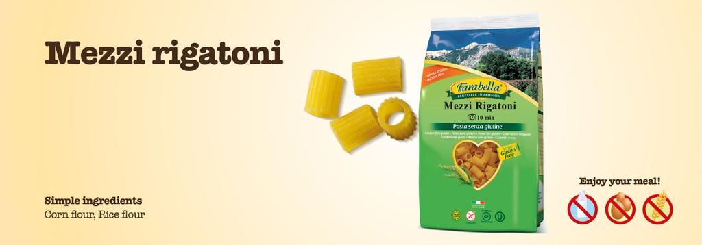 Gluten Free Farabella Mezzi Rigatoni 12 oz