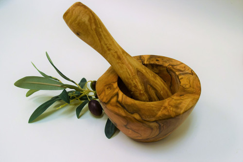 Wood Mortar Pestle - Marcelli Formaggi
