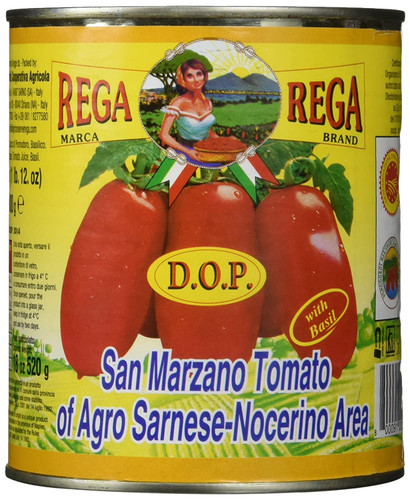 Rega San Marzano Whole Peeled Italian DOP Tomatoes 28 oz.