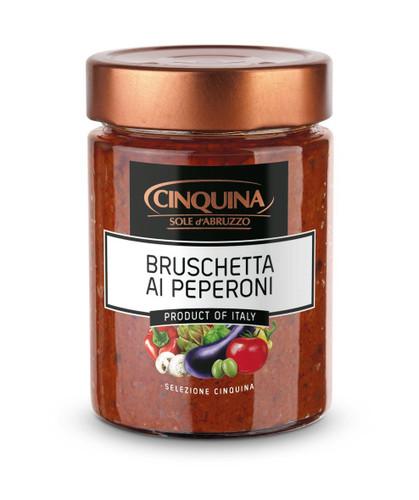 Cinquina Roasted Pepper Bruschetta Pesto  314g