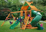 Outdoor front view of Mountaineer Play Set from Playnation