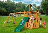 Outside front view of Chateau Clubhouse Play Set from Playnation