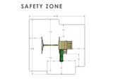 Overhead Safety Zone View of Outing Swing Set from Playnation