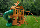 Outdoor alternate view of Mountaineer Clubhouse Play Set from Playnation