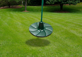 Lifestyle shot of Green Disc Swing from PlayNation.