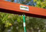 Lifestyle shot of the Green Disc Swing's  Bolt Connection from PlayNation.