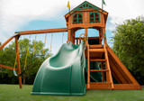 Extreme shot of Outing II w/ Tube Slide Swingset from Playnation