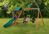 Outdoor view of Ranger Plus play set from PlayNation Play Systems.