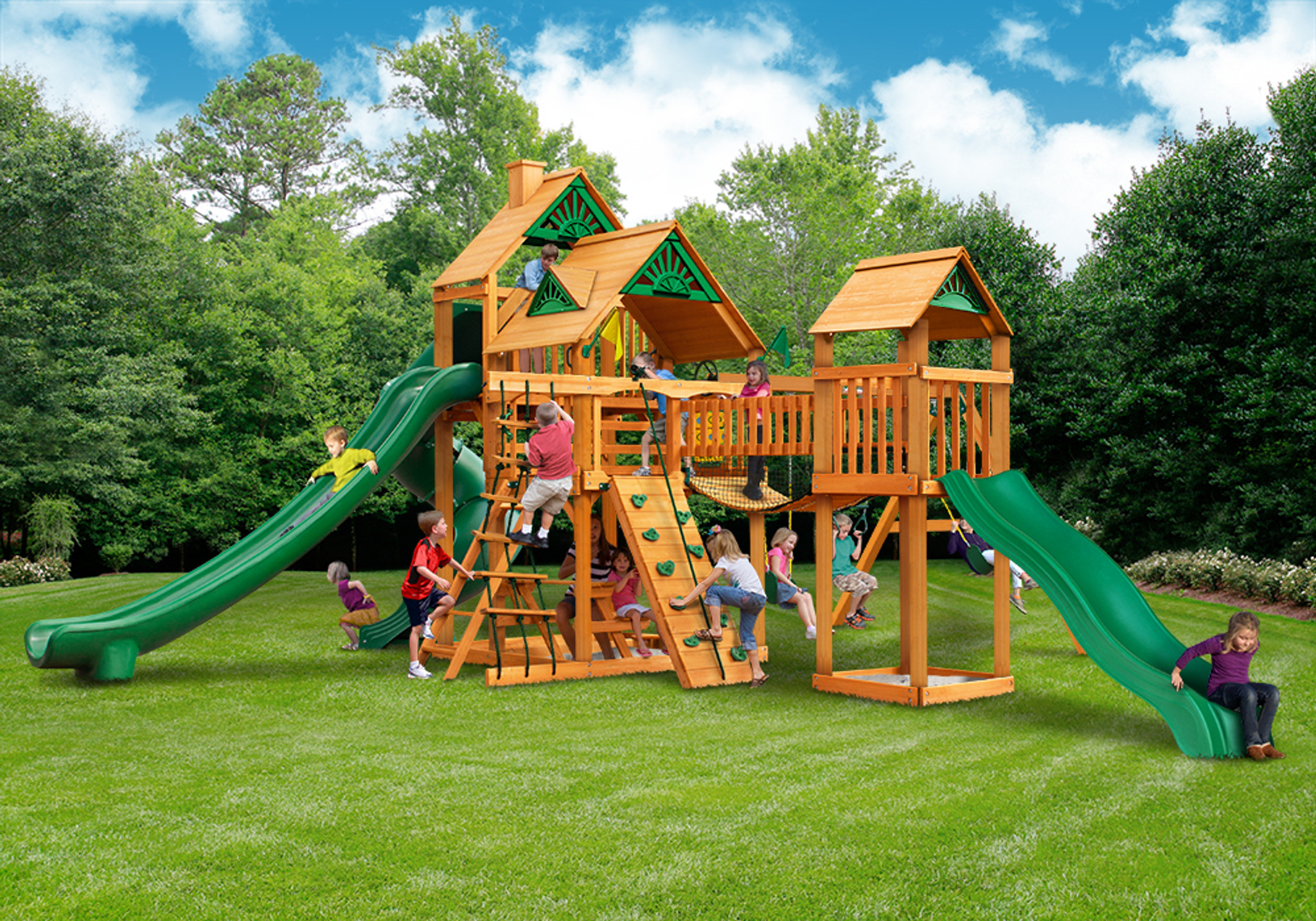 Outside front view of Treasure Trove II Play Set from Playnation