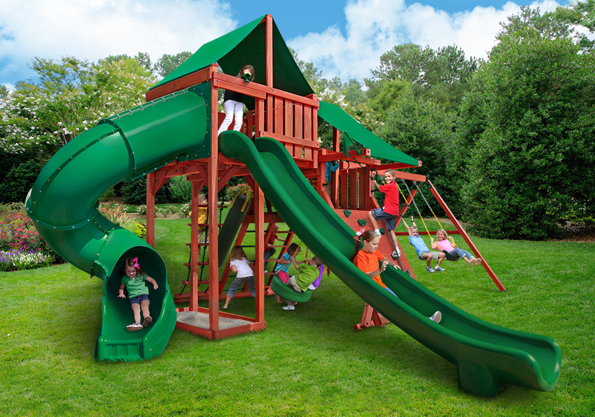 Lifestyle shot of Sun Valley Deluxe Playset from PlayNation.