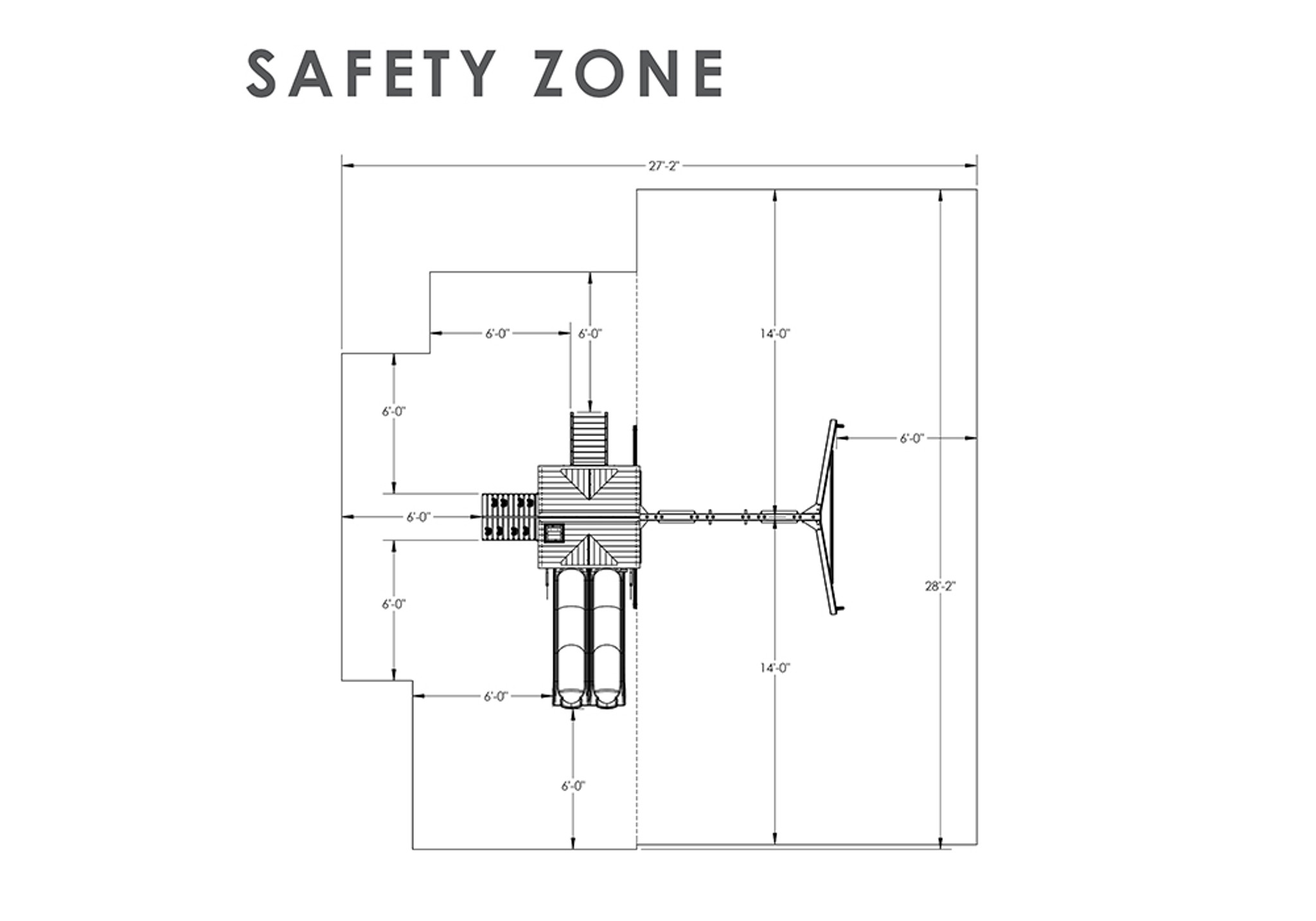 Safety Zone view of Cavalier II Play Set from Playnation
