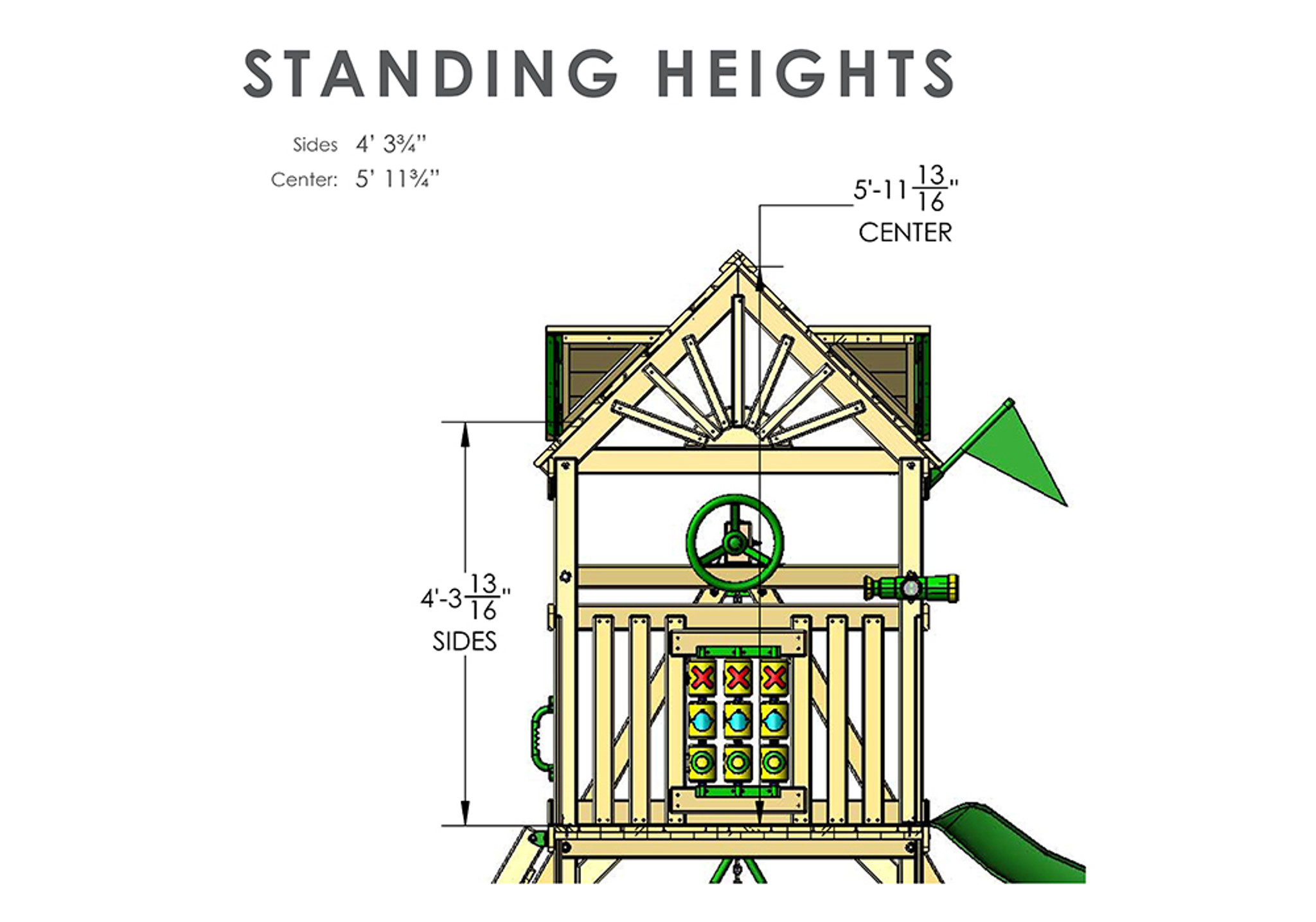 Standing Height view of Cavalier II Play Set from Playnation