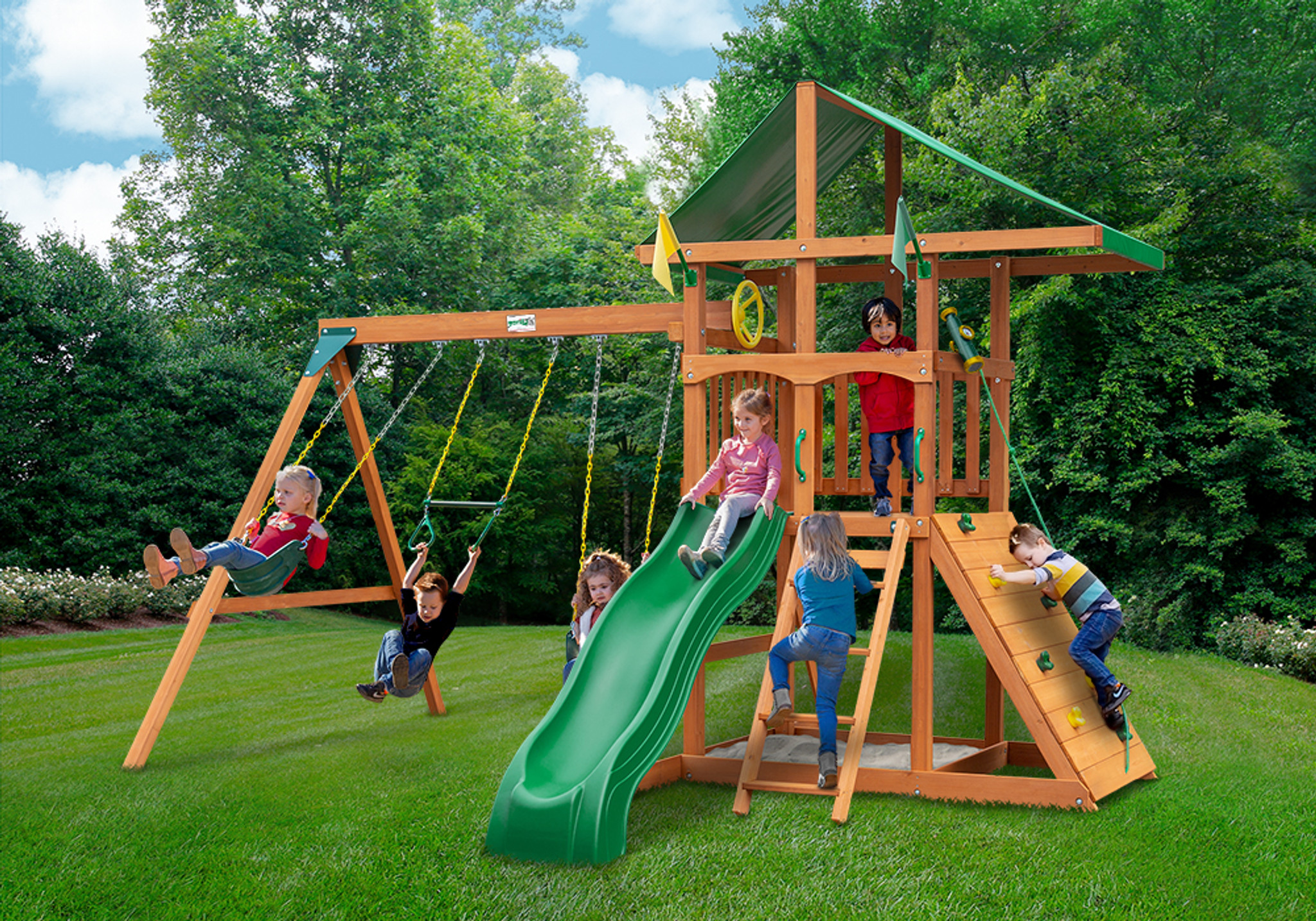 Outside view of Outing Play Set from Playnation