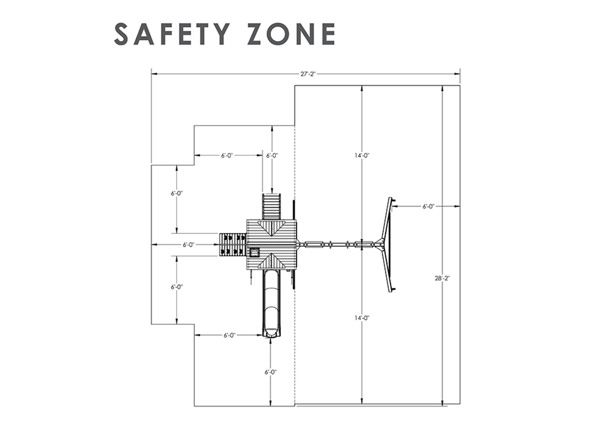 Safety Zone view of Nantucket II Play Set from Playnation