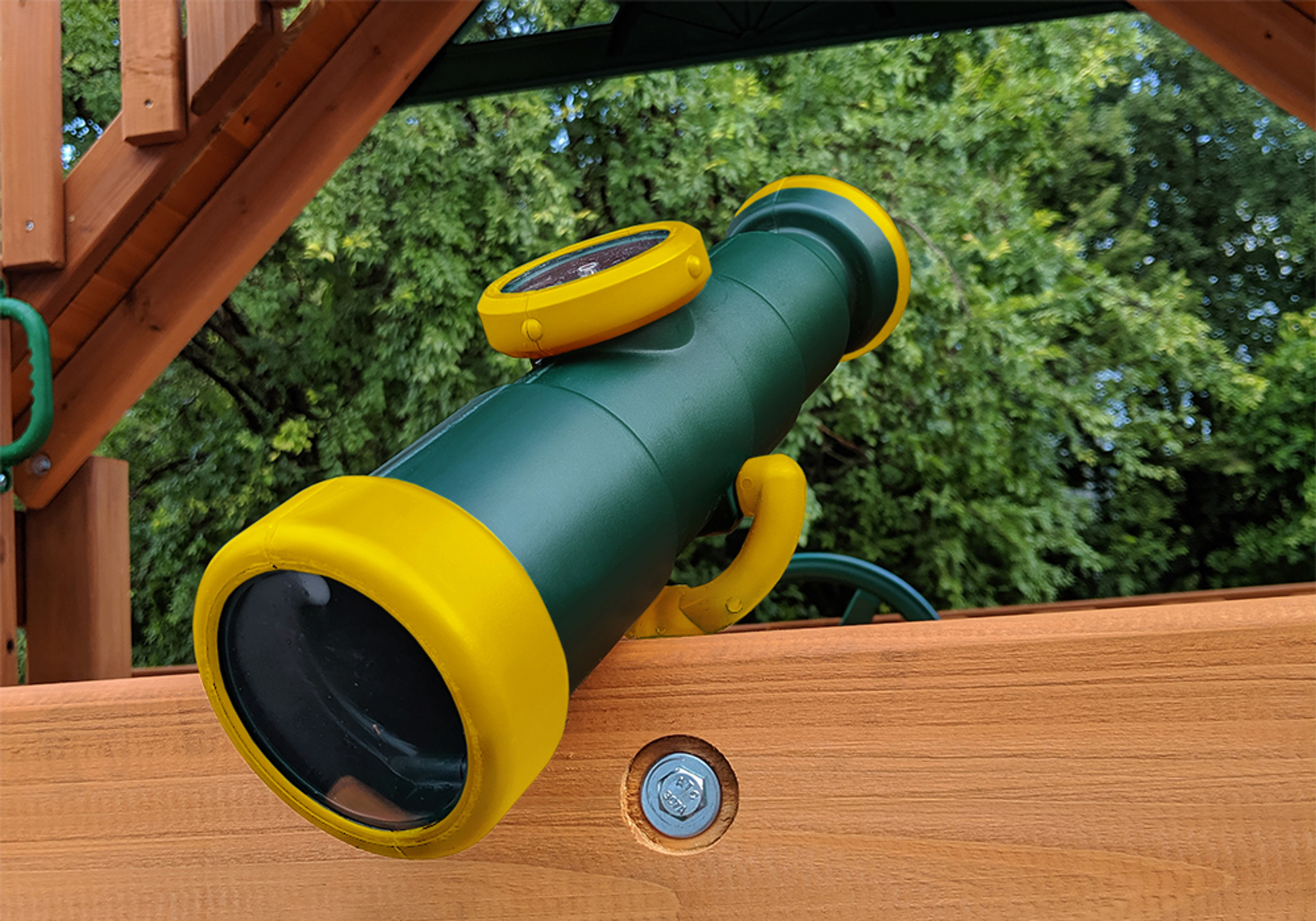 Frontal view of Telescope with Compass from PlayNation Play Systems.