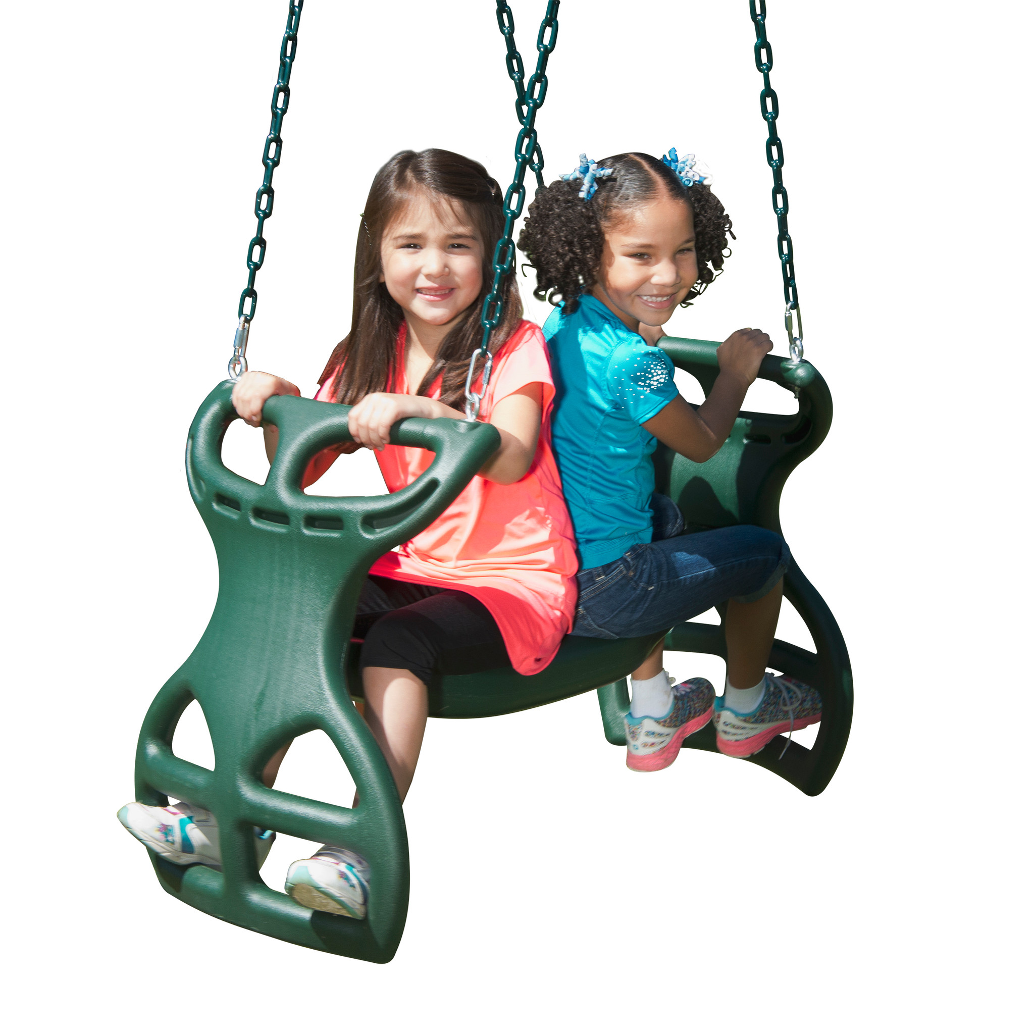 Studio shot of Double Glider Swing from PlayNation.