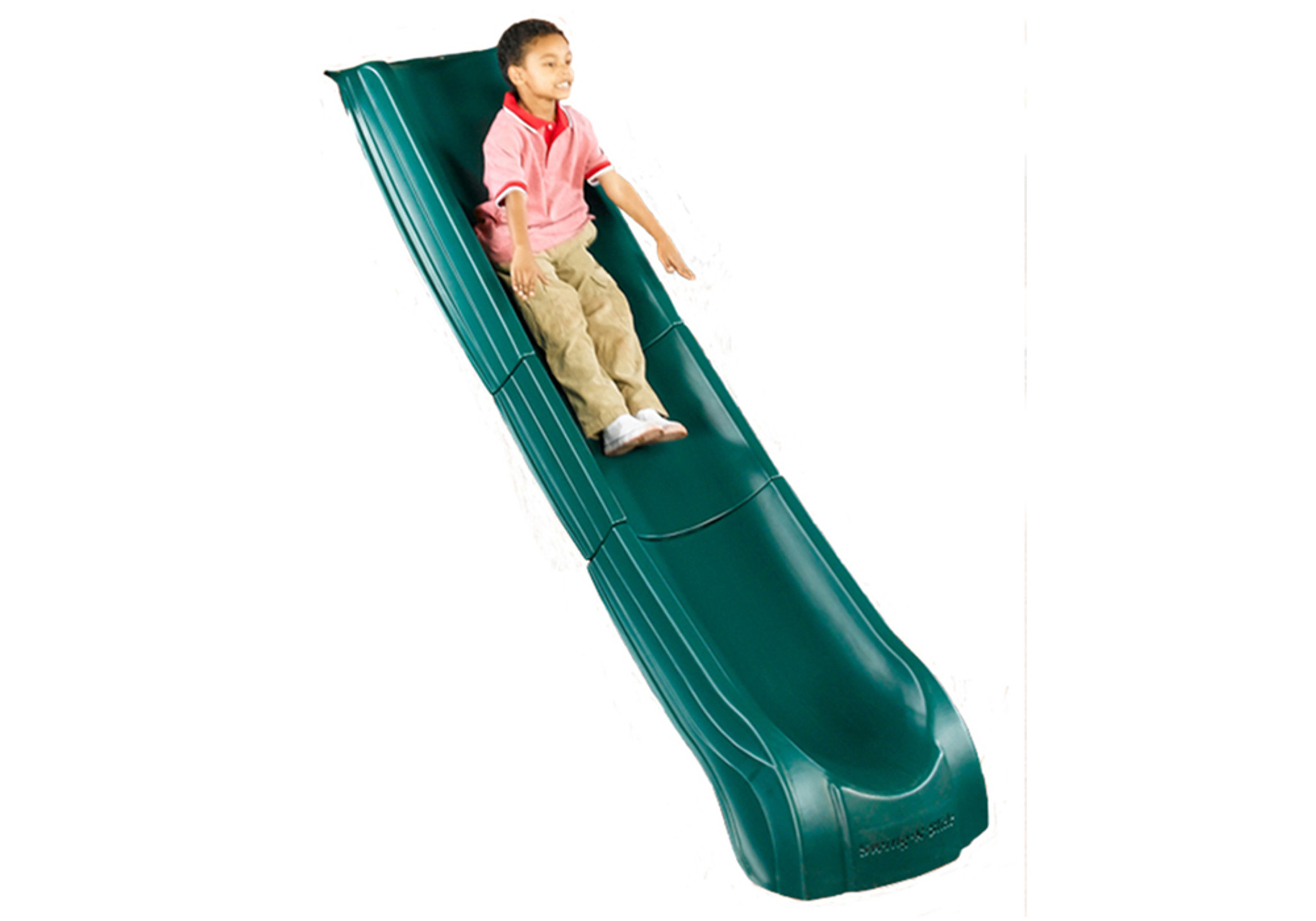 Studio shot of Green Super Summit Slide from PlayNation Play Systems