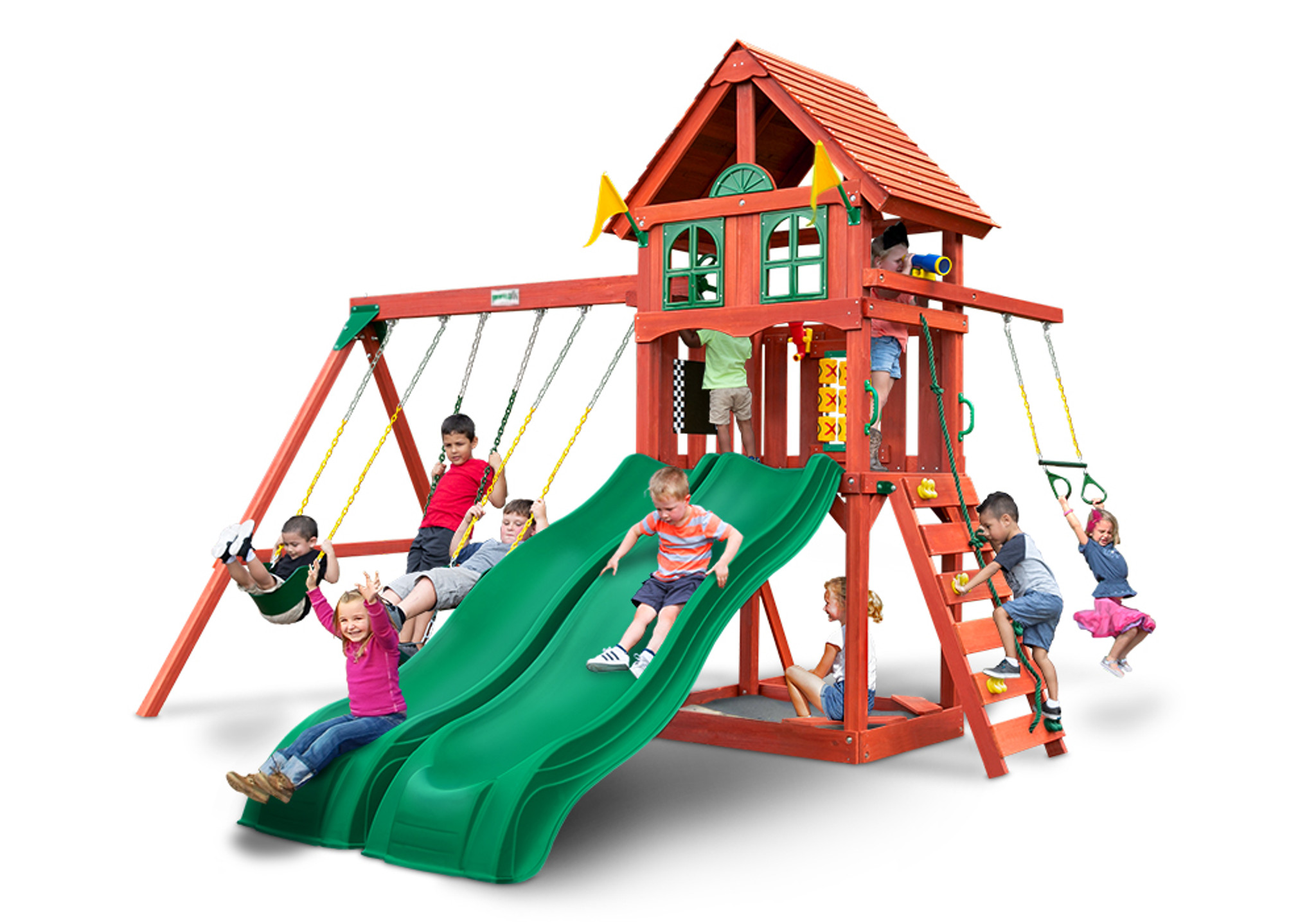 Front view of Adventure Wave Play Set from Playnation play systems.