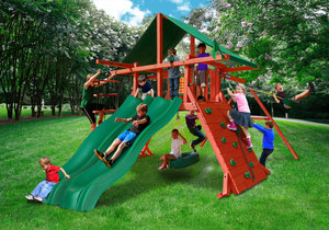 Outside front view of Russet Racer Play Set from Playnation
