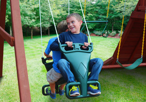 Outdoor shot of Tandem Swing from PlayNation.