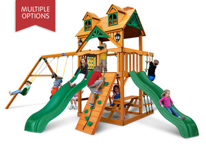 Studio front view of Riviera Dueller Swing Set from PlayNation
