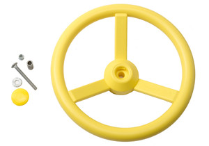 Exploded view of Steering Wheel with four spokes from PlayNation.