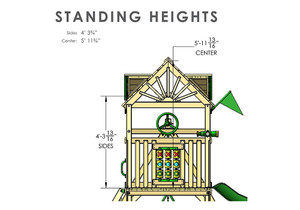 Standard Height view of Nantucket II Play Set from Playnation
