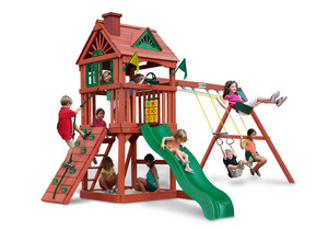 Front view of Nantucket II Play Set from Playnation