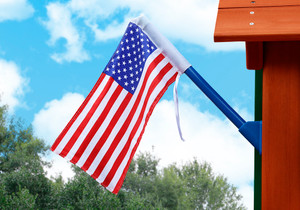 Outdoor view of American Flag from Playnation.