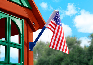 Alternate outdoor view of American Flag from Playnation.