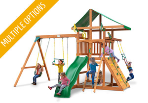 Studio view of Outing w/ Trapeze Bar Play Set from Playnation