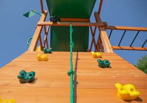 Extreme shot of Passage II w/ Monkey Bars Swing Set and Rock Wall from PlayNation