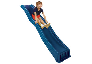 Studio shot of Blue Cool Wave Slide from PlayNation Play Systems