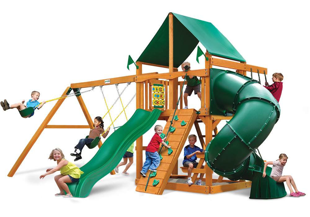 Studio front view of Mountaineer Play Set from Playnation