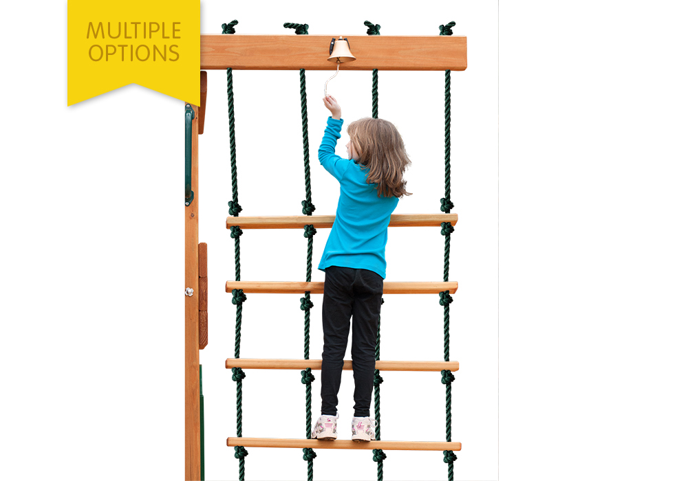 Deluxe Rope Ladder Swing Set Accessories And Wooden Playsets