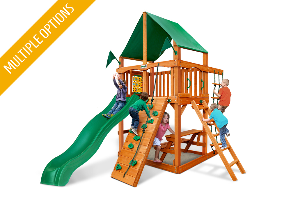 Studio front view of Chateau Tower Play Set from Playnation