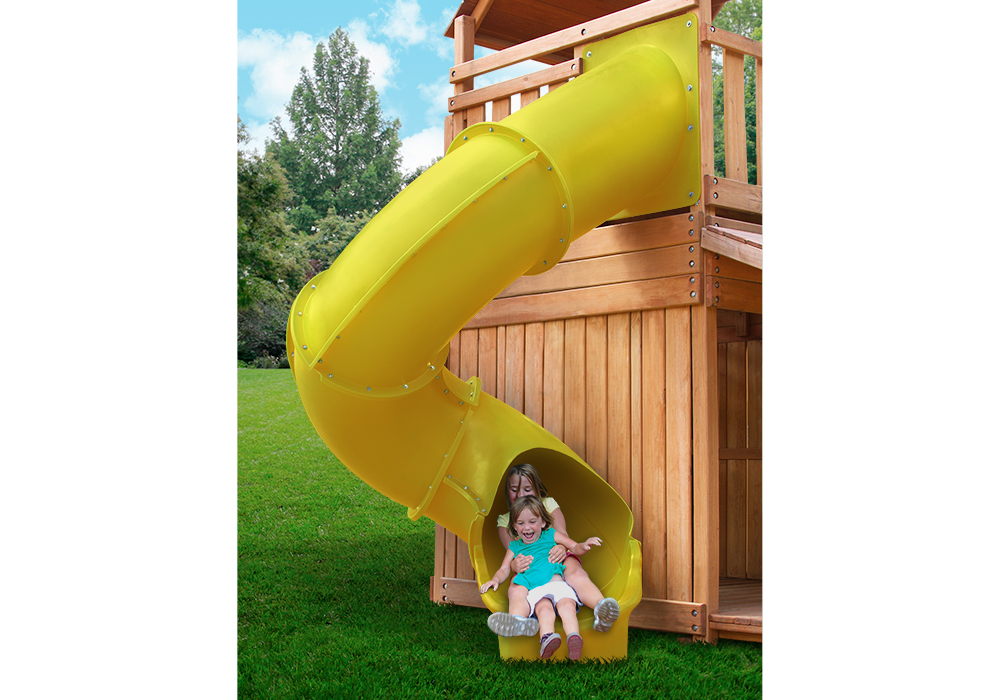 Studio shot of Yellow Super Tube Slide from PlayNation Play Systems.