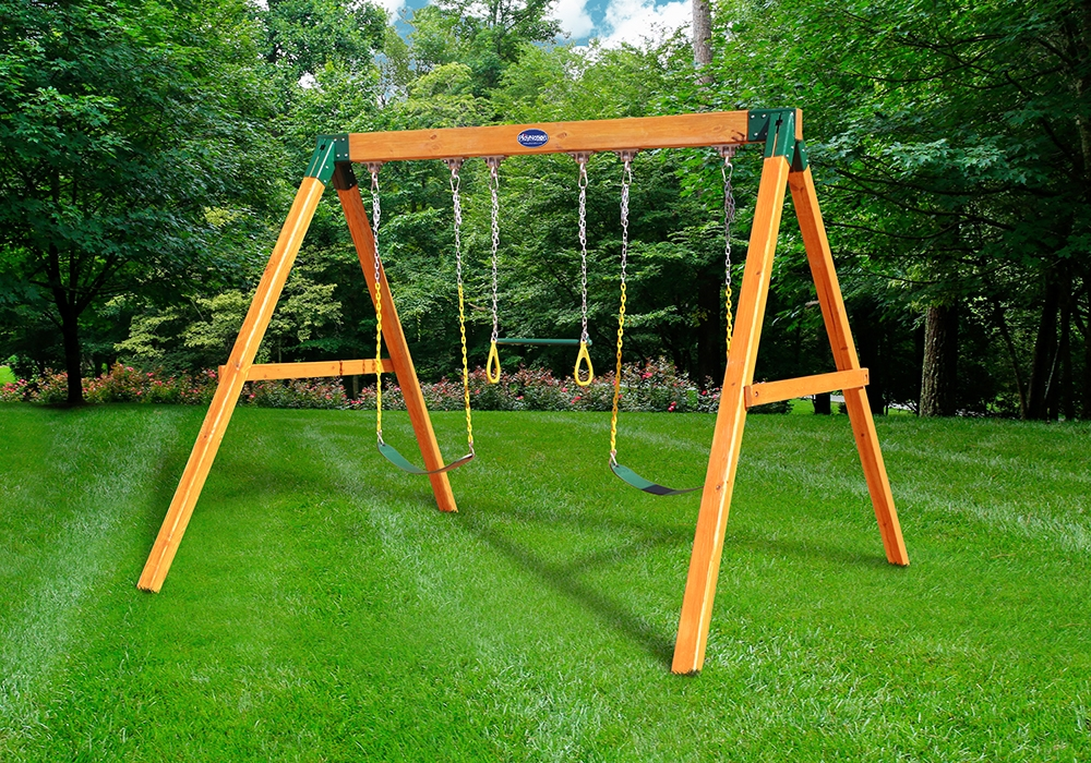 Free Standing Swing Frame Swing Set Accessories And Wooden Playsets