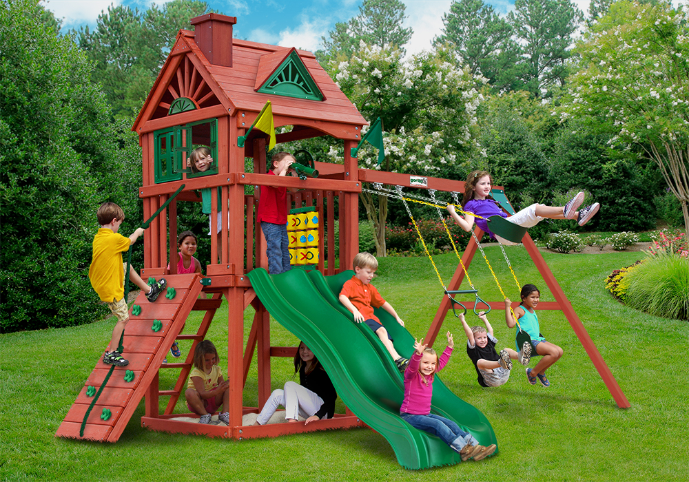Outside front view of Double Down II  Play Set from Playnation