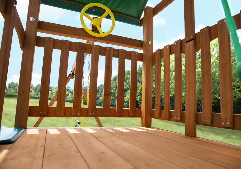 Close up shot of Passage II Deluxe Play Set's Deck and Steering Wheel from Playnation
