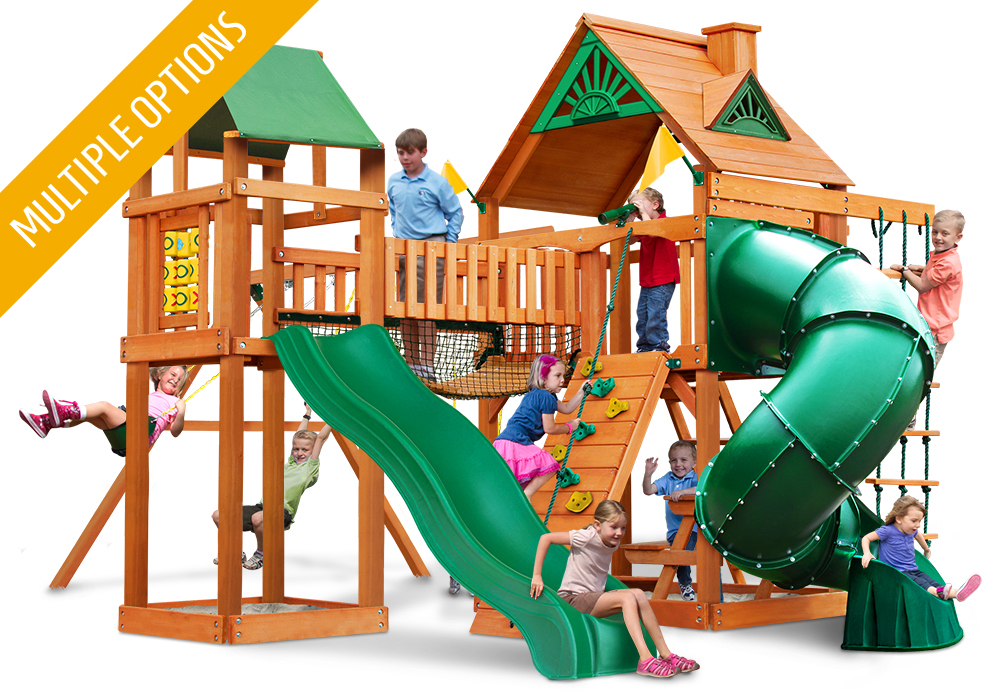 Studio front view of Wilderness Gym Play Set from Playnation
