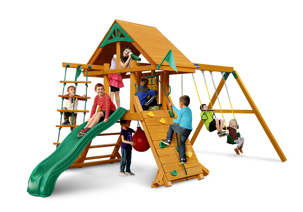 Studio front view of Latitude Deluxe Play Set from Playnation