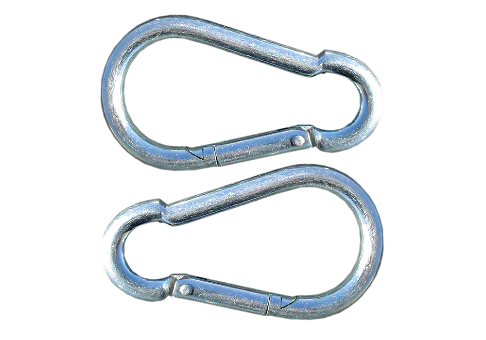 8mm Zinc Spring Clips (pair)
