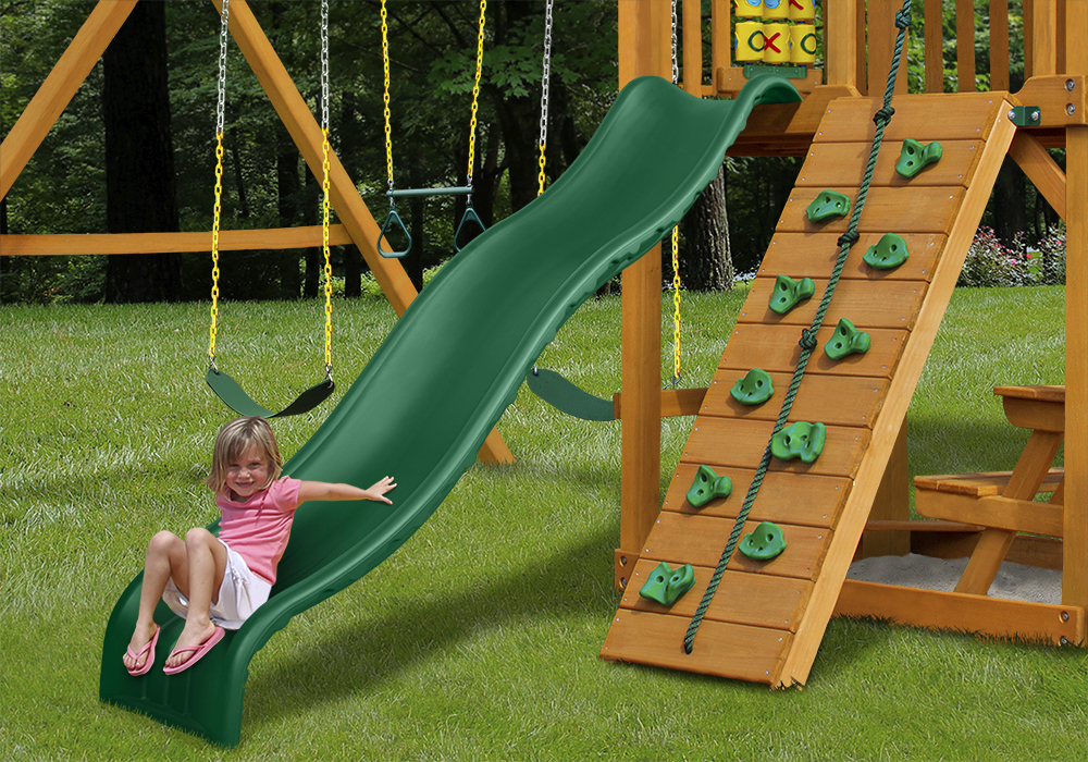 Lifestyle view of Wiki Wave Slide II from PlayNation Play Systems.
