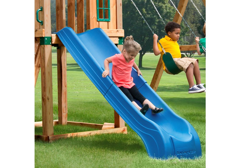 Lifestyle view of Summit Slide from PlayNation Play Systems.